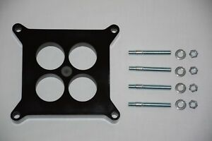 """4 Barrel Phenolic 1/"""" 4 Hole 4bbl Holley Carb Spacer /& carburator Studs"""