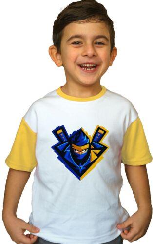 Ninjashyper Kids Faccia Personalizzata T Shirt youtuber Giocatore Battaglia Bambini Bambine Nuovi
