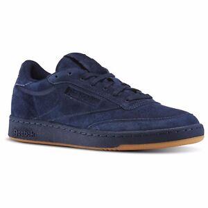 Reebok Men s Club C 85 Tg Fashion Sneaker BD5787 Navy Blue Original ... a164e4ae8