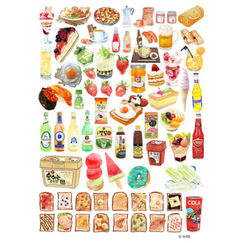 22Color Food Self-adhesive Craft Scrapbook Stickers Diary DIY Decorative Gift