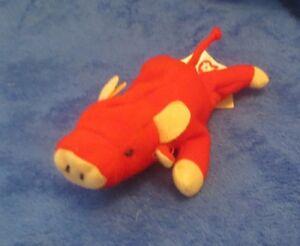 36e634a345a McDonald s Ty Teenie Beanie Snort the Red Bull 1993 NO HANG TAG ...