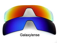 Galaxy Replacement Lenses For Oakley Oil Rig Blue&red Polarized 2pairs