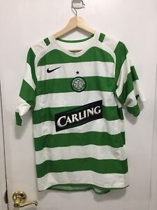 8005ee8d5 Nike Green White Celtic Football Club CARLING Soccer Jersey Size S ...