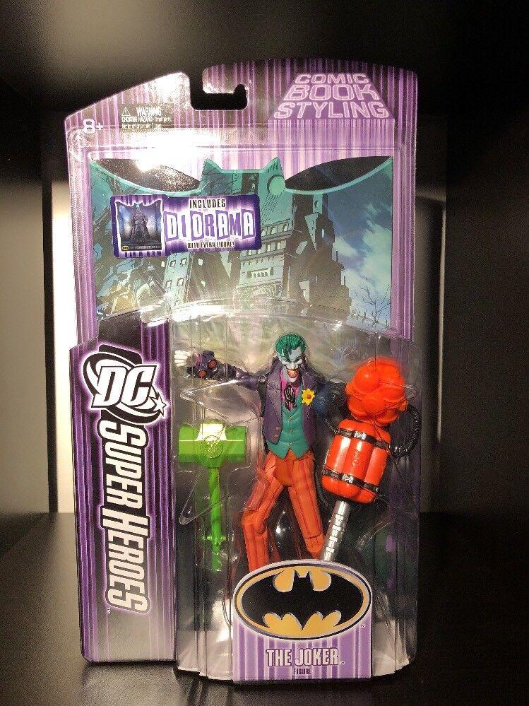 DC Comics Comics Comics Mattel S3 Select Sculpt Series The Joker Action Figure Batman Diorama 802d86