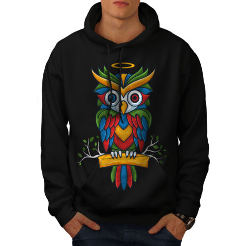 Wellcoda Bright Colorful Owl Womens Hoodie Nature Casual Hooded Sweatshirt