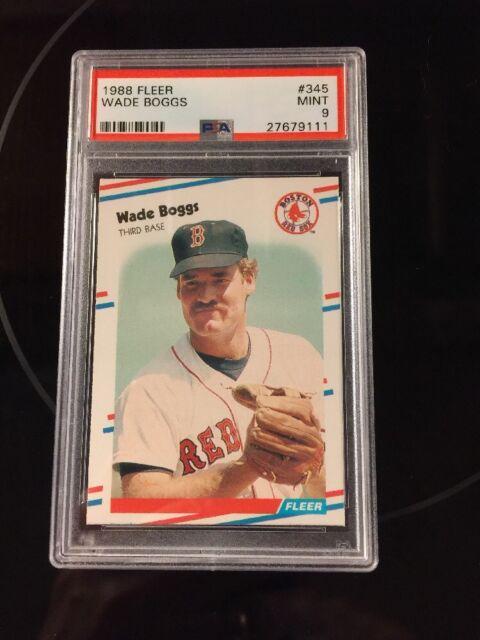 1988 Fleer Wade Boggs #345 Baseball Card PSA 9