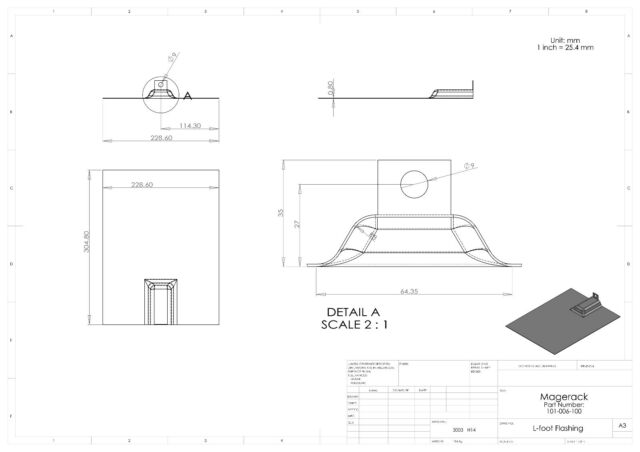 Magerack L-Foot Bracket w// Flashing Pack 10 Solar Panel PV Module Mounting 5//16