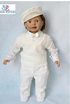 Baby Boy Panna Smart Canotta Vestito Battesimo Occasione Speciale Partito Formale-mostra Il Titolo Originale