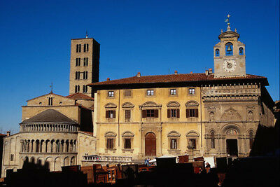 698092 Piazza Grande Santa Maria Della Pieve Arezzo Tuscany A4 Photo Print Skillful Manufacture Art