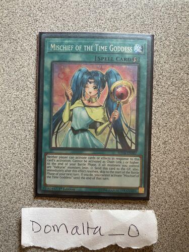Yugioh Mischief of the Time Goddess SHVA-EN007 Secret Rare 1st Edition NM//VLP