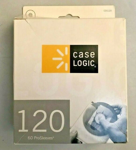 White Case Logic CDS-120 120 Capacity CD ProSleeve Pages Caselogic Accessory Consumer Accessories