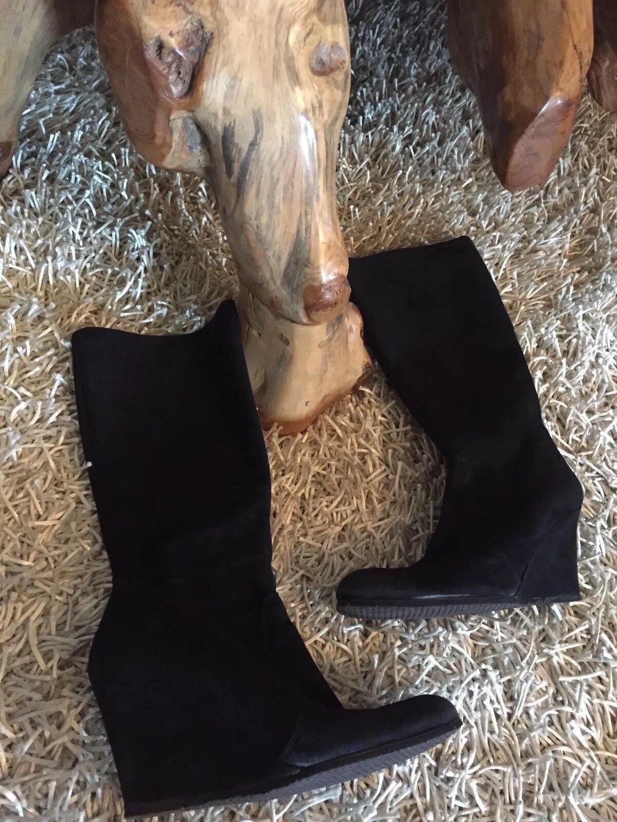 Keil absatz señora botas negro Gr. 39/40 Top