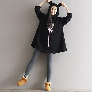 b4fdc20e7d Kawaii Sweet Lolita Japanese Preppy Look Cute Ears Mori Girl Winter ...