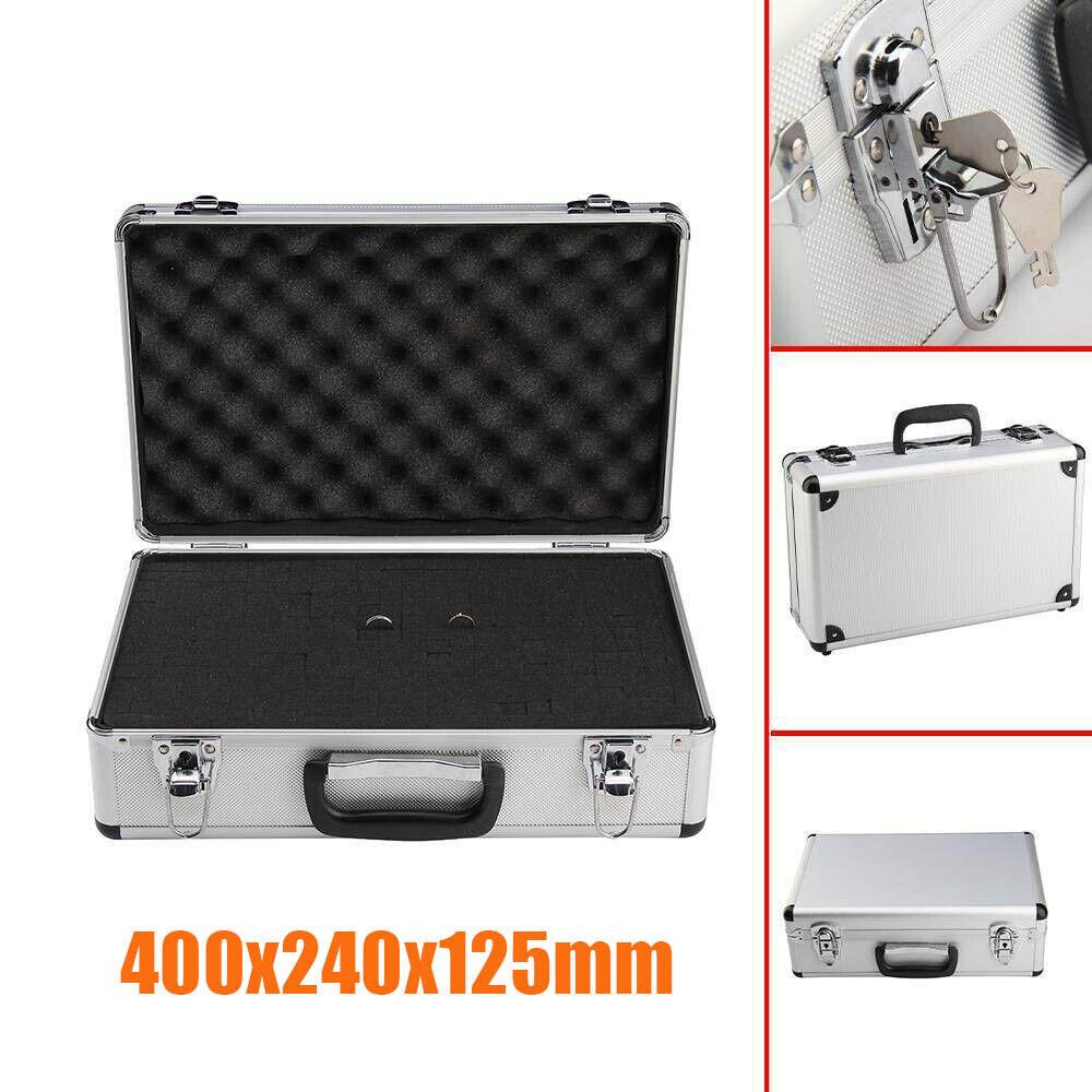 Large Hard Aluminium Flight Case Foam Camera Photography Carry Storage Tool UK