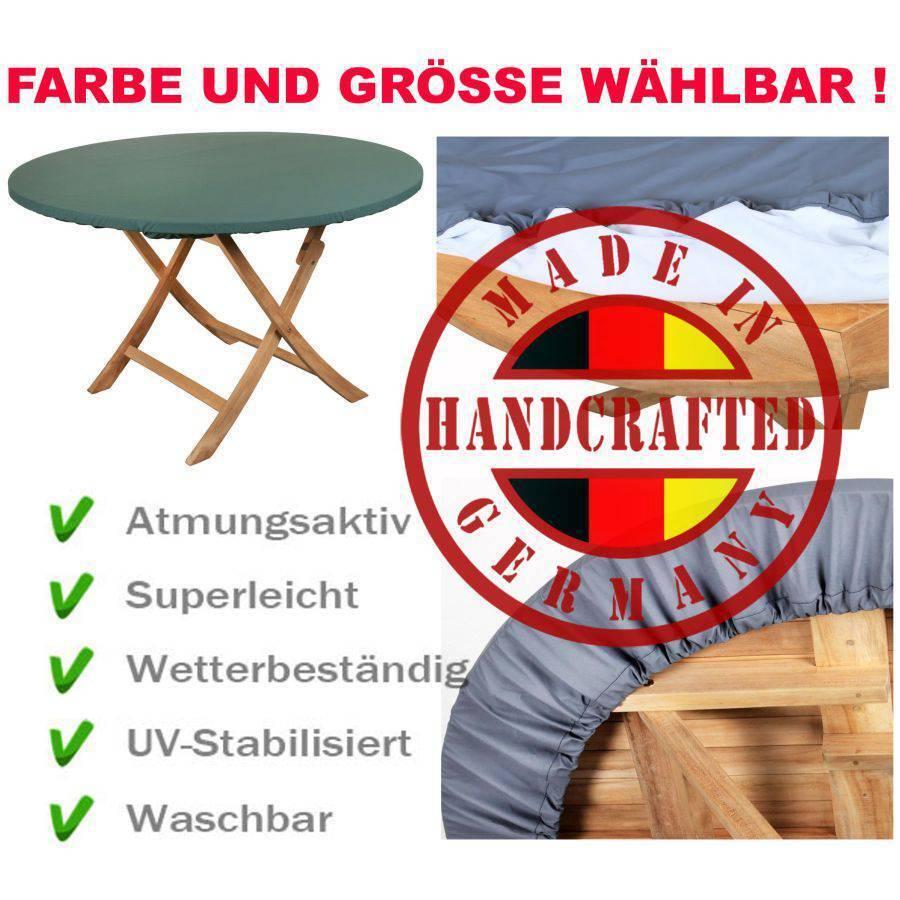 MADE IN GERMANY SCHUTZHAUBE MIT GUMMIZUG FÜR RUNDEN TISCH FARBE GRÖSSE WÄHLBAR     | Kunde zuerst
