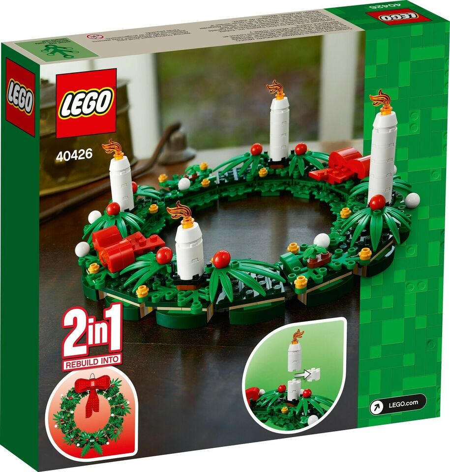 Lego Exclusives, 40426 Christmas Wreath 2-in-1 UÅBNET