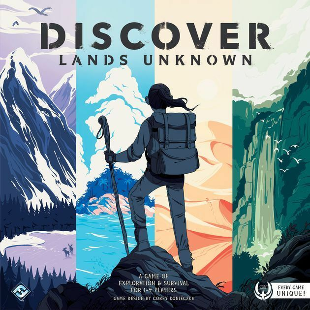 MW  DISCOVER  LANDS UNKNOWN -ENGLISH-   2018 FANTASY FLIGHT GAMES