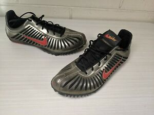 Nike-Zoom-Maxcat-Men-039-s-Size-7-5-Sprinting-Spikes-cleats-GOLD-BLACK-RED