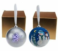Mr. Christmas Set Of 2 Led Illuminated Ornaments With Gift Boxes H198132