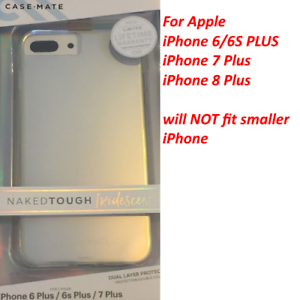 promo code f5df2 58fba Details about Case Mate (7224) NAKED TOUGH IRIDESCENT Case For iPHONE 6/6s  PLUS & 7/8 PLUS