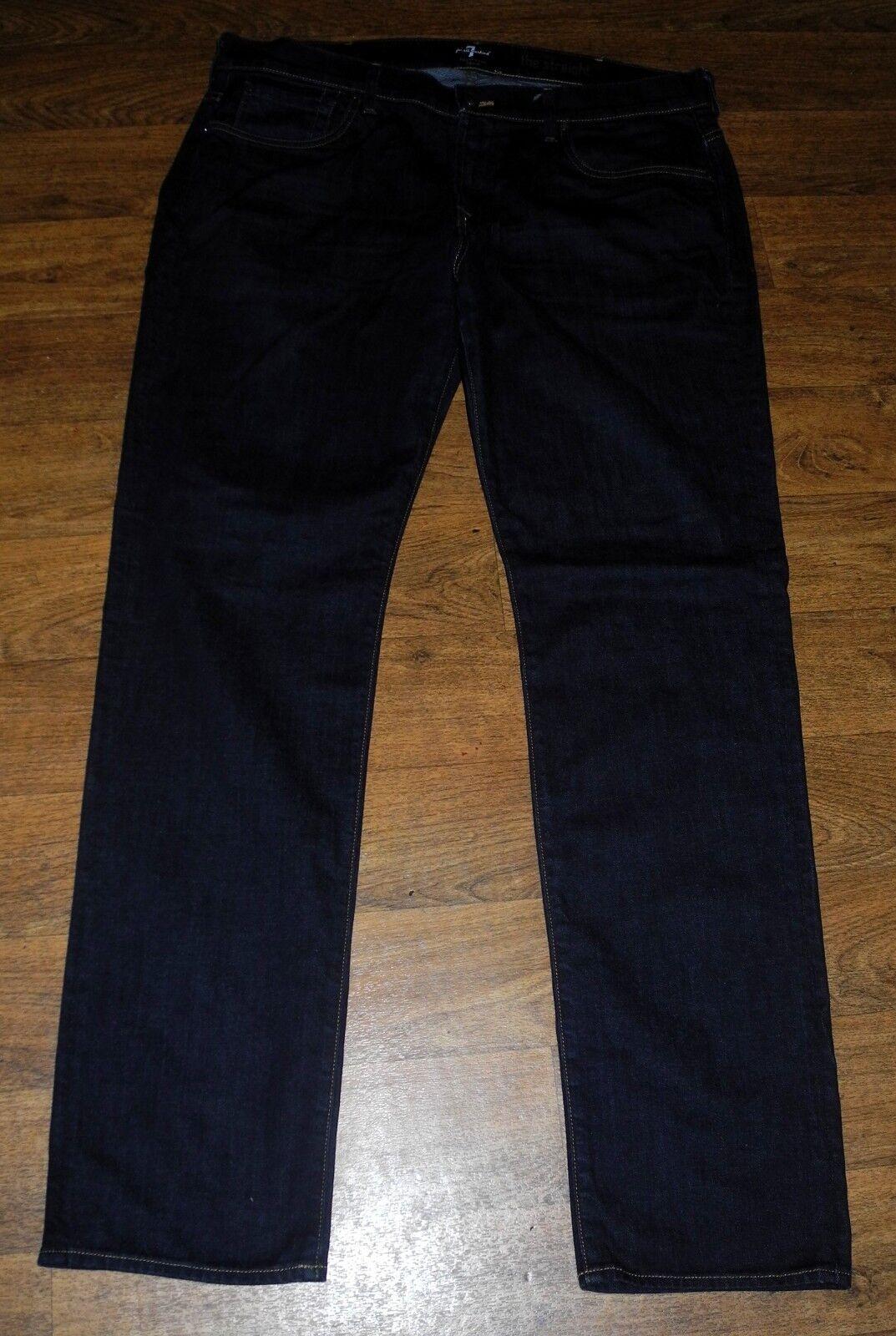 7 for all mankind FoolProof Denim Straight Leg Men's Dark bluee Jeans 38x34 USA