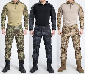 Work Wear & Uniforms Objective Us Army Clothes Set Men Military Tactical Camouflage Combat Shirt Cargo Pants Knee Pads
