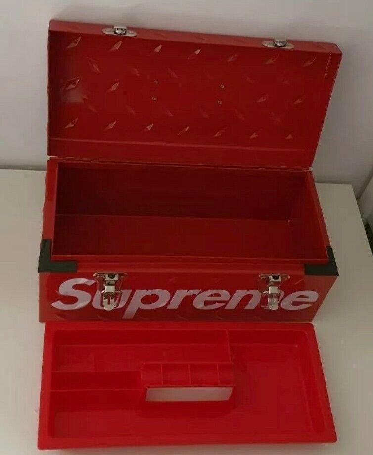FW18 Supreme diamond plate tool box metal