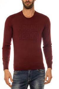 Uomo Bordeaux Maglia 6x6mc76m06z Sweater Jeans Maglione 1492 Armani Lana 6qXwxY4aX