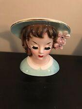 "Vintage NAPCO NATIONAL Potteries LADY HEAD VASE Planter 50s  4 1/2"""