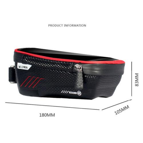 Cycling MTB Bike Waterproof Front Tube Cycling Bag 6.5/'/' Touch Screen Phone Case