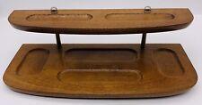 Vintage Wooden Mens Valet Desktop Organizer 12 X 5 12 London Leather