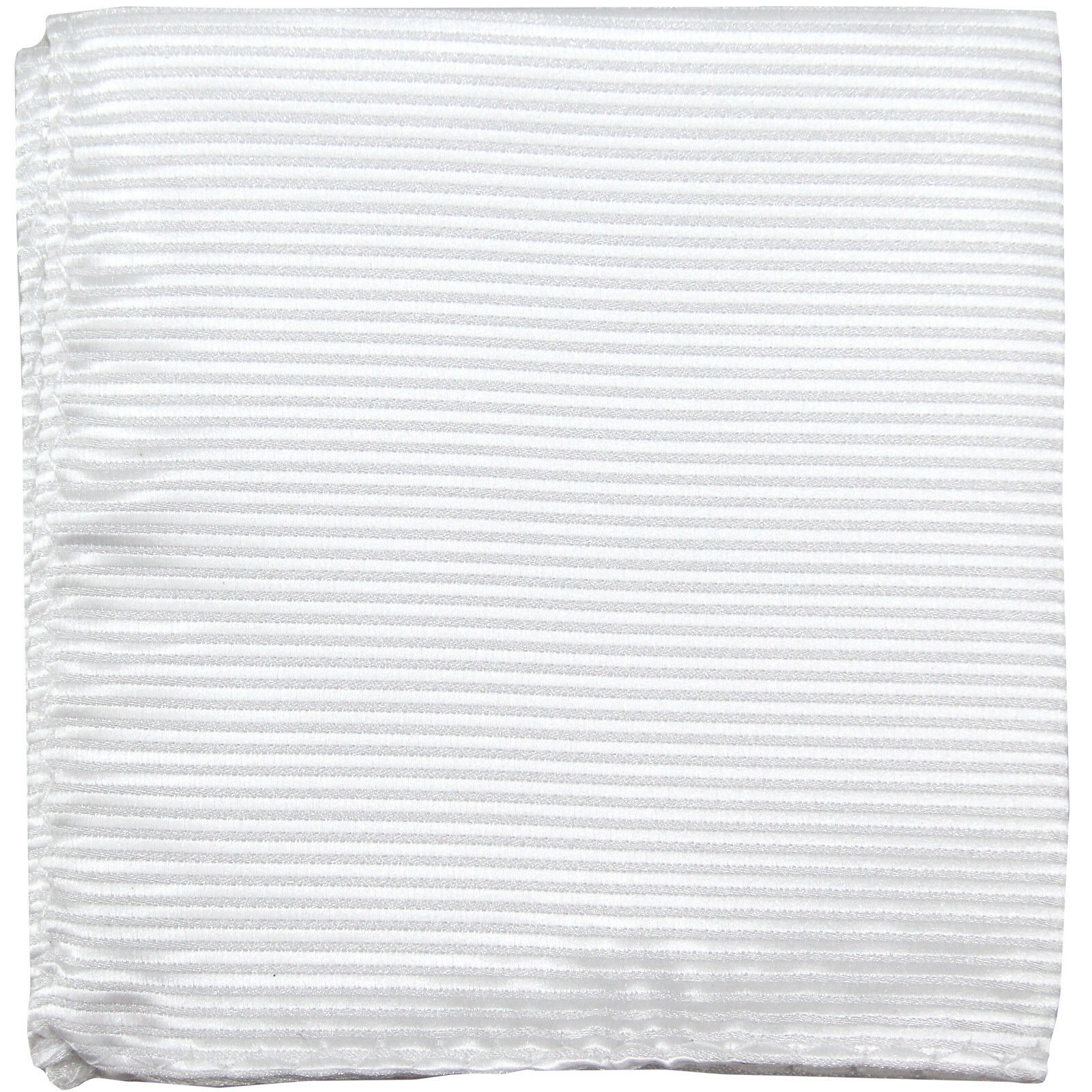 New polyester thin pin striped pocket square hankie handkerchief white formal