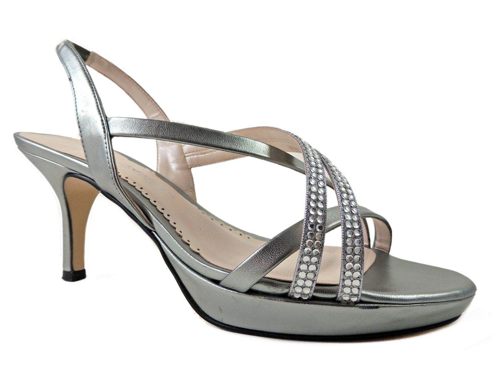 Caparros Women's Yara Platform Sandals Mercury Metallic Size 7 M