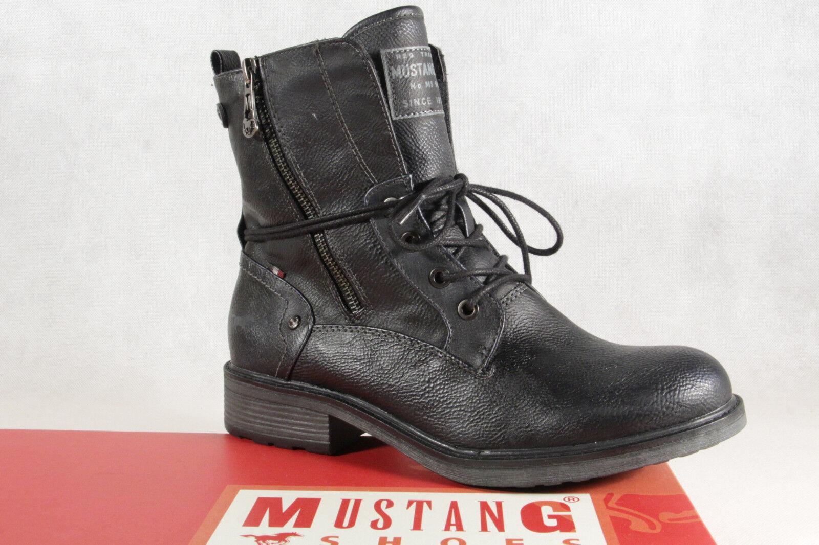 8c44a476c20 Mustang botas Botines botas con Cordón Azul Marino 1264 ¡Nuevo nbhahy2722- Botas