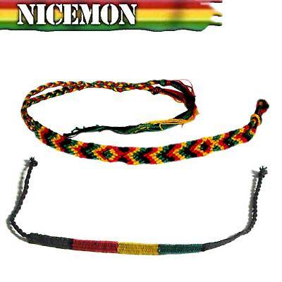 Bracelets Bijoux Fantaisie Rasta Amitié Irie Bracelet Poignet Negril Reggae Bob Hobo Paix Festival Rgy