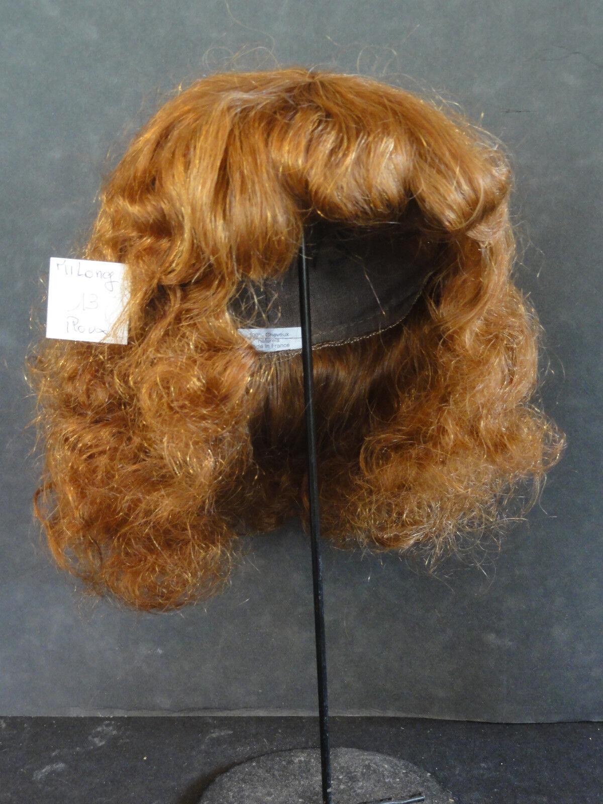 40% Promo Perücke Puppe T13 (40.5cm) (40.5cm) (40.5cm) 100% Haare Halb Lang Puppe Perücke 366183