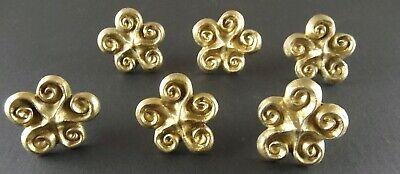Michael Aram Lot of 6 Gold Tone Swirl Drawer Pulls