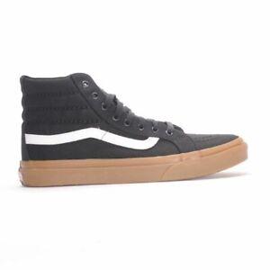 Détails sur Vans Off Wall Sk8 Hi Slim Light Gomme Chaussures Noires Homme 4.5 Femme 6 afficher le titre d'origine