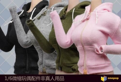 onepop 1//6 Woman Casual Hooded Cardigan Coat Clothes Fit 12/'/' Figure