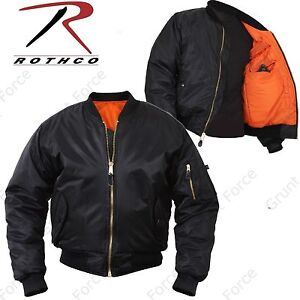 Details about Concealed Carry MA-1 Flight Jacket - Mens Black Military Type  CCW Winter Coat 0ba61a92000