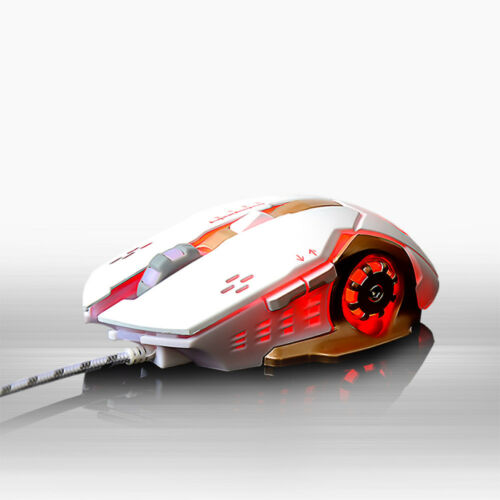 Fashion 7 Color LED 3200DPI 6D Wired Macro Definition Programming Gaming Mouse