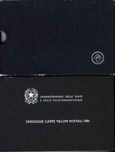 LIBRETTO-EMISSIONI-CARTE-VALORI-POSTALI-1984-COMPLETO-CON-CUSTODIA