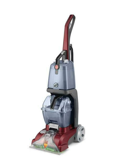 Hoover Power Scrub Deluxe Red Upright Vacuum Cleaner