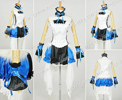 Vocaloid 7th Dragon 2020 Cosplay Costume Hatsune Miku Deluxe Dress Blue Version