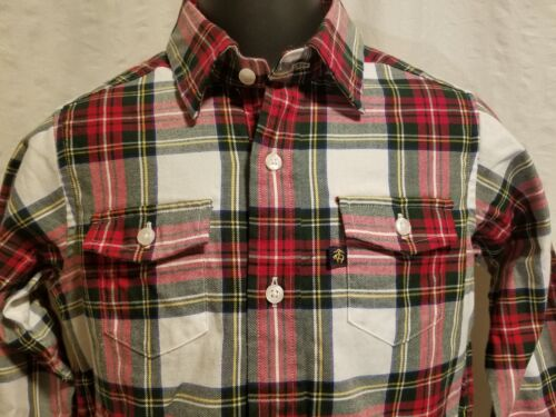 New BROOKS BROTHERS Boys/' Sizes XS S M L XL Long Sleeve Flannel Dress Shirt $60