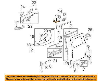 Honda Oem 05 10 Odyssey Side Sliding Door Roller Left 72550shja01 Ebay