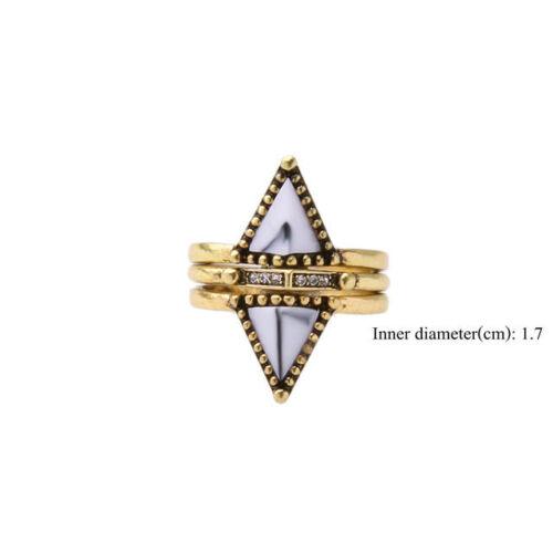 Women/'s fashion Gold Plated  Crystal Gem Enamel Cocktail Ring JZ0286