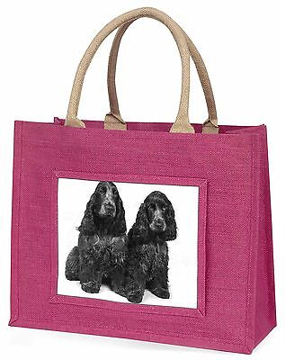 Blue Roan Cocker Spaniel Hunde Große Rosa Einkaufstasche Weihnachten Prese,