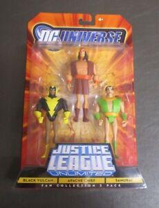 Black Vulcan Samurai Apache Chef 3 Pack Justice League Unlimited Dc Universe