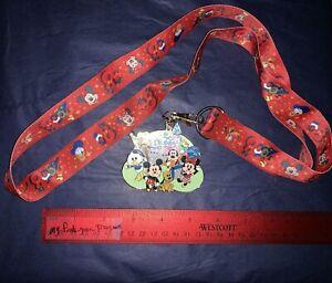 DISNEY-Pin-Trading-LANYARD-MEDAL-2008-Walt-Disney-World-MICKEY-amp-Gang-Chibi